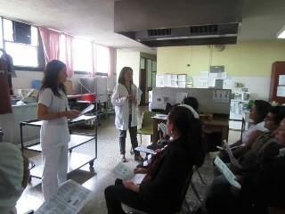 Actividad realizada en el Hospital Materno Infantil Juan Pablo II, capacitando al personal del área de Alimentación y Nutrición