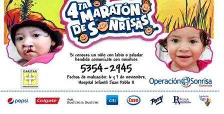 """Provocaremos más sonrisas, con la """"4a Maratón de Sonrisas"""", para niños con labio o paladar hendido"""